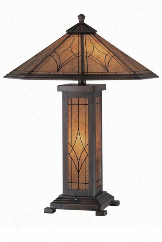 """odessa Table Lamp - 25""""h X 19.75""""w, Bronze"""