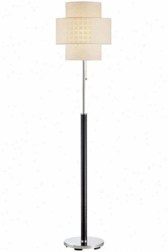 """""""olina Floor Lamp - 61""""""""hx14.5""""""""d, Black"""""""