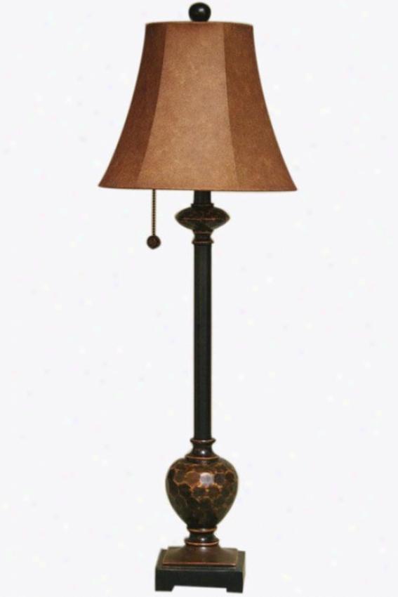 """olivia Beat Lamp - 11""""wx11""""dx35""""h, Bronze W/copper"""