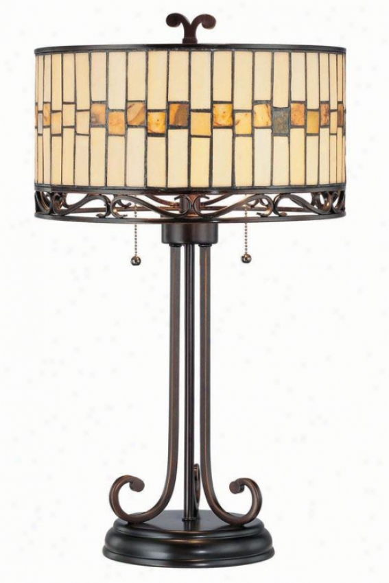 """omora Table Lamp - 15""""h X 26.5""""w, Bronze"""