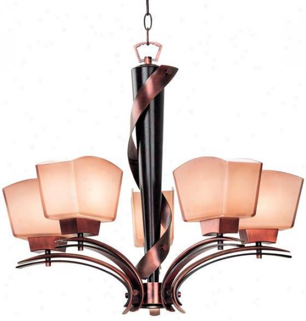 Oslo 5-light Chandelier - 5light, Brown