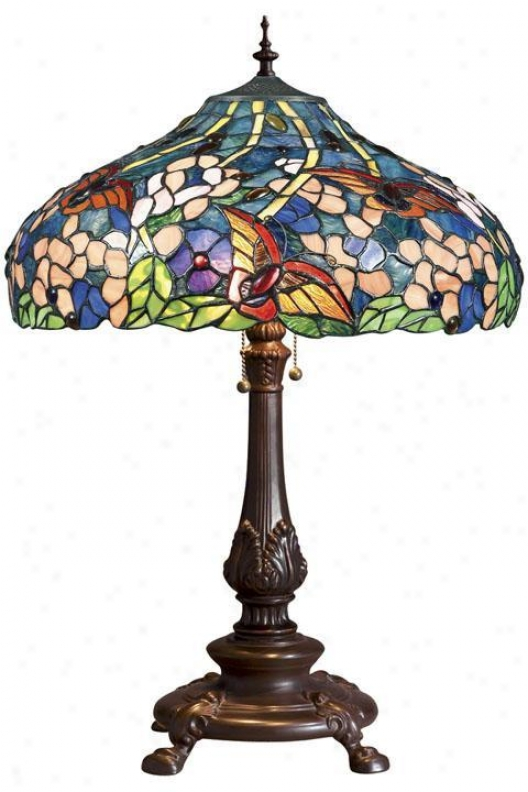 Oyster Bay Butterflies Medium Table Lamp - Medium Table, Multi