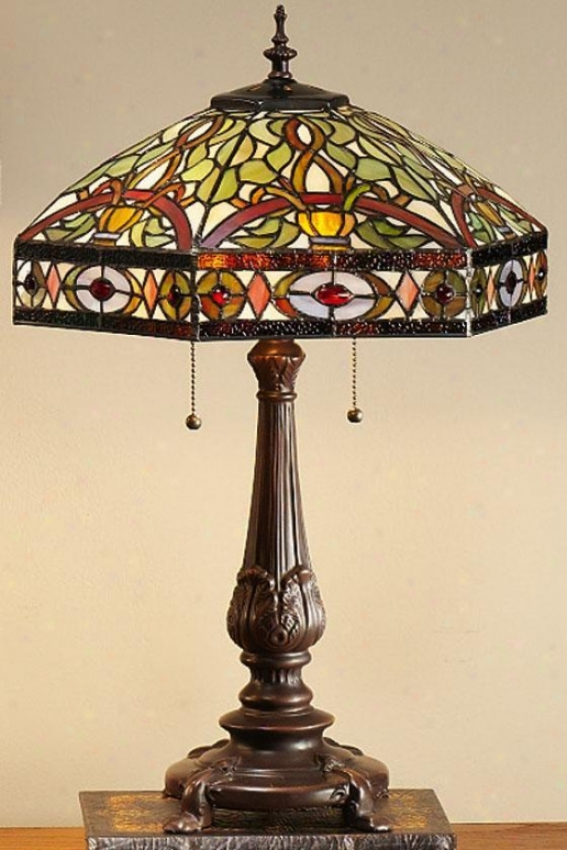 Oyster Bay Conservatory Medium Index Lamp - Middle Table, Multi