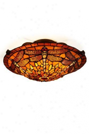 Oyster Bay Dragonfly Semi-flush Mount - Semi-flush, Gold