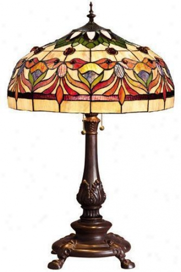 Oyster Bay Kaleidoscope Medium Table Lamp - Medium Table, Red