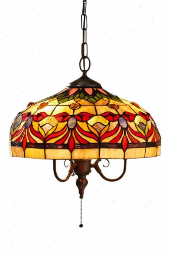 Oyster Bay Kaleidoscope Pendant - Down Pendant, Red