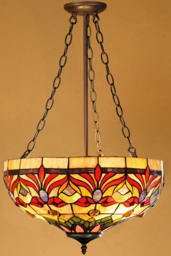 Oyster Bay Kaleidoscope Upward Pendant Light - Upward Pendant, Red