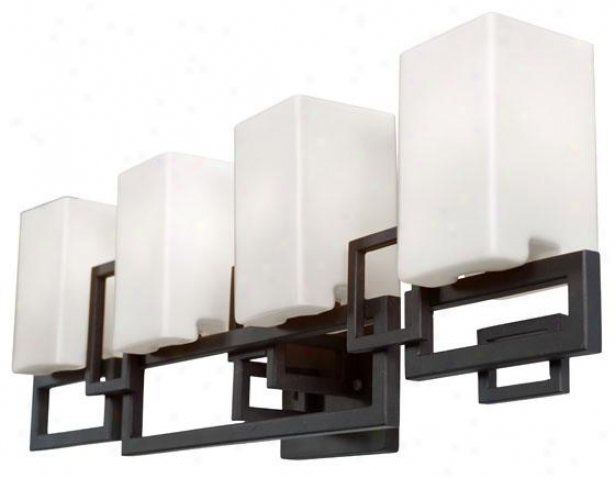 Palm Springs 4-light Vsnity - Four Light, Forged Irn Crmy