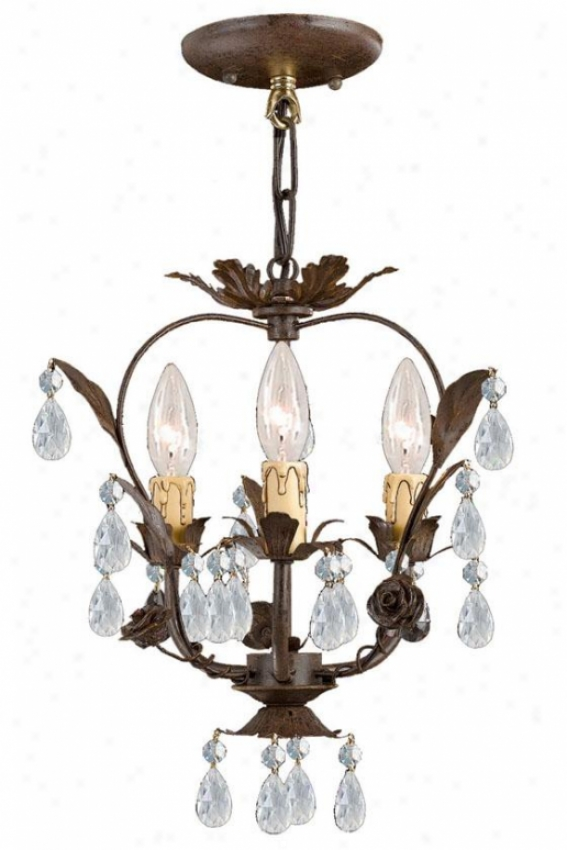 Paris Flea Market Mini Chandelier - 3-light, Tan