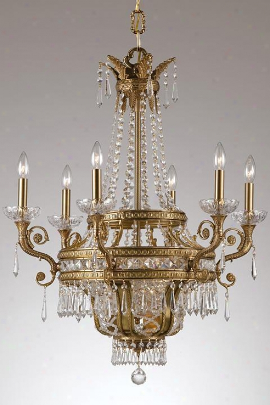 """paris Flea Nine-light Crystal Chandelier - 30""""hx28""""w, Bronze Bronze"""