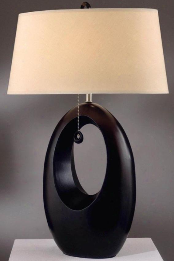 """""""paswage Slab Lamp - 29""""""""h, Brown"""""""