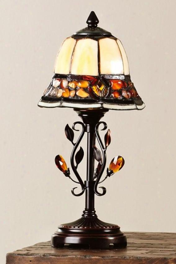 """pebblestone Accent Lamp - 15.25 X 7.25""""d, Antq Gldn Sand"""