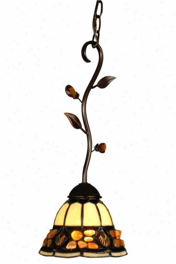 """pebblestone Hanging appendage Fixture Lamp - 17.25h X 7.25""""d, Antq Gldn Sand"""