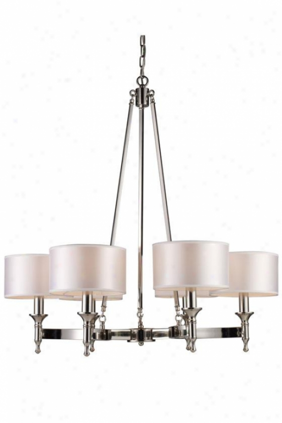Penbrooke Chandelier - 6-lkght, Steel Gray Nickel