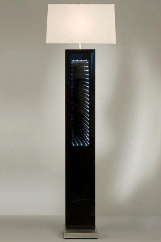 """phantom Floor Lamp - 62hx10""""wx16""""d, Black"""