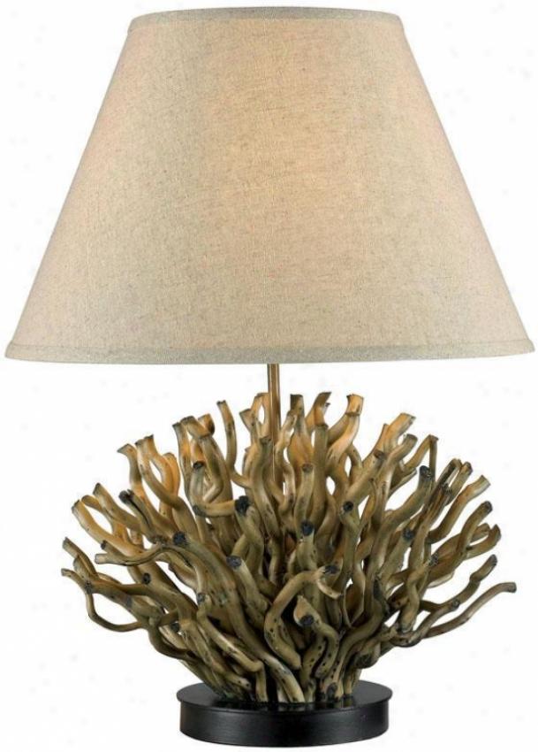 """piper Tabl Lamp - 26""""hx18""""d, Natural Reed"""