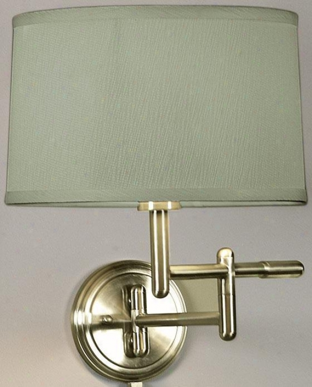Pivoting Swing-arm Pin-up Lamp - Sage, Copper Brass