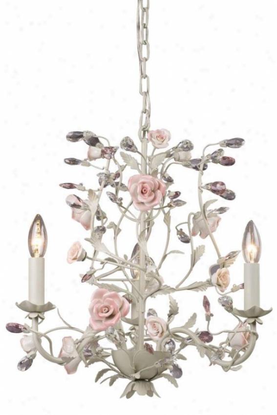 """""""porcellana 18""""""""h Chandelier - 3-light, Ivory"""""""