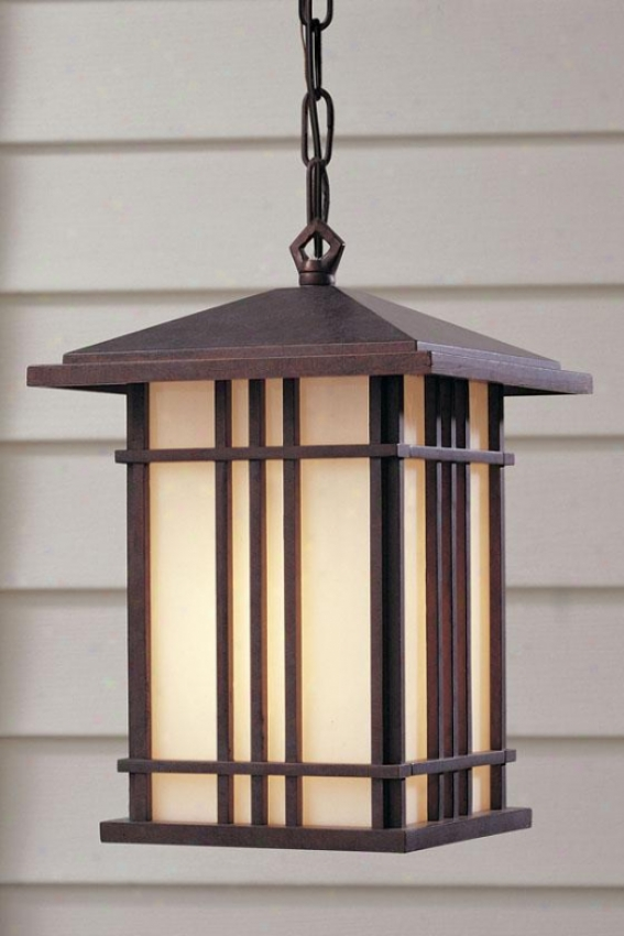 """porter Outdoor Pendant - 12.25""""h X 8.5""""w, Weather Patina"""