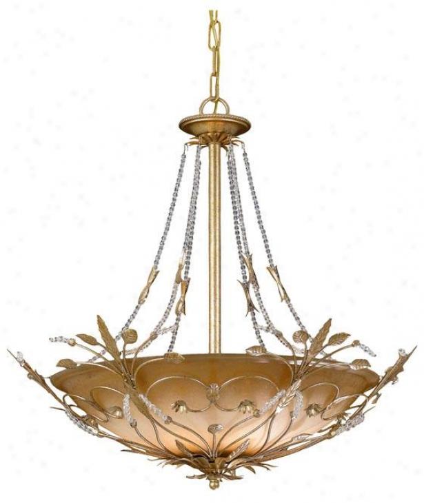 Primrose Bowl Chandelier - 6-light, Gold