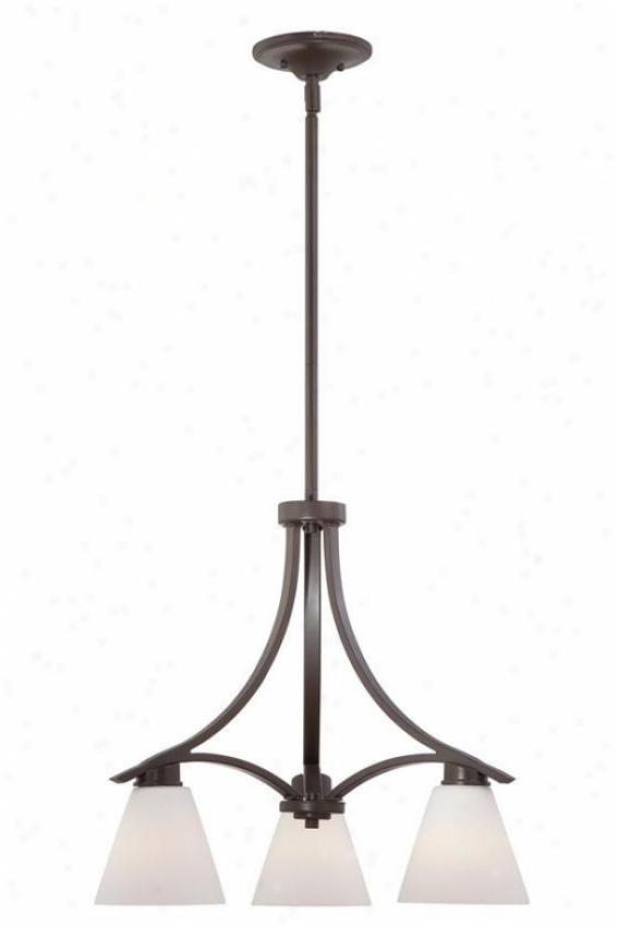 Priscilla Dinette Chandelier - 3-light, Western Bronze