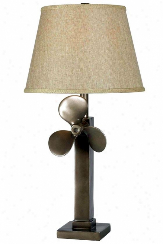 """prop Table Lamp - 30""""h X 15""""w, Weathered Steel"""
