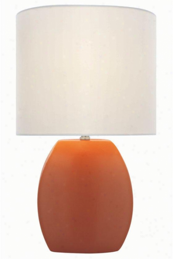"""reiko Table Lamp - 16.75h X 9.75""""w, Bright Orange"""