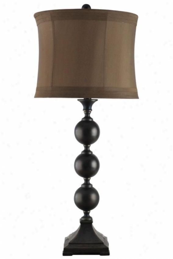 """""""reva Table Lamp - 14""""""""wx14""""""""dx34""""""""h, Bronze"""""""
