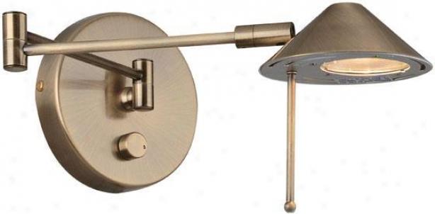 """rhine Swing-arm Lamp - 20""""x13"""", Copper Brass"""