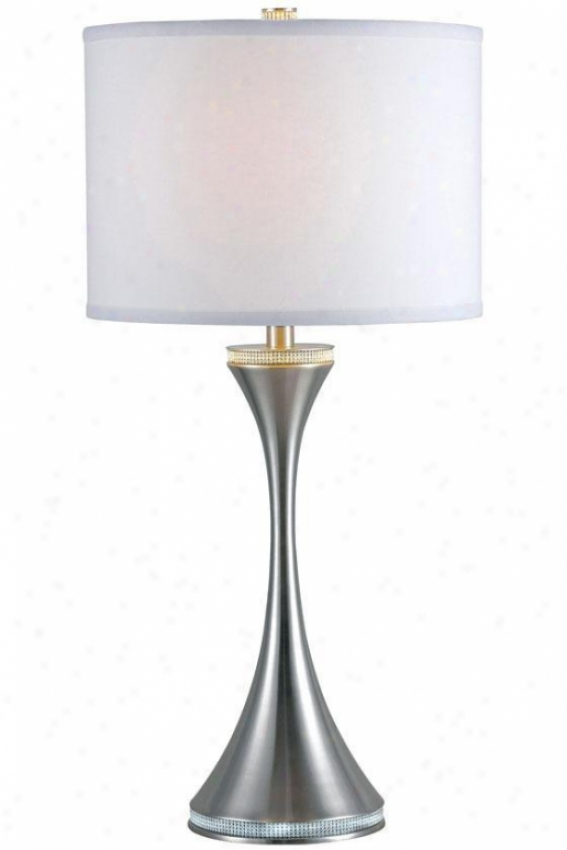 """rhinestone Table Lamp - 29""""h, Grey Steel"""