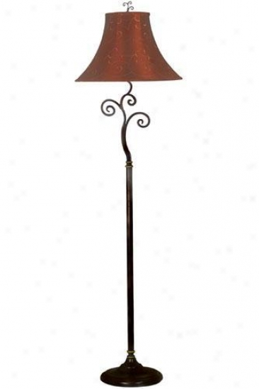 Richardson Floor Lamp - Red/gold, Bronze