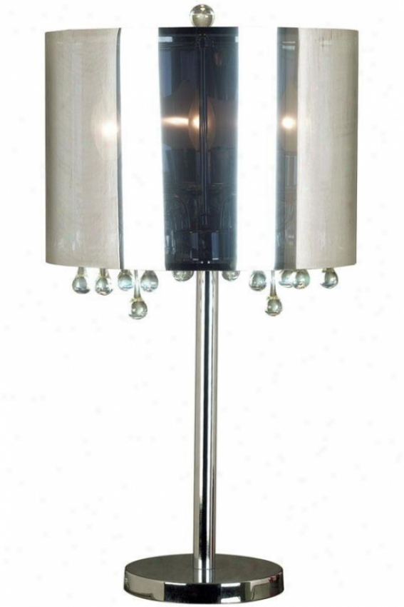 """roma Table Lamp - 29""""h, Silver Chrome"""