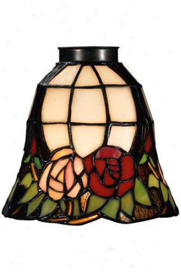 """""""roses Fan Vanity Light Shade - 2.25"""""""" Neck, Pink"""""""