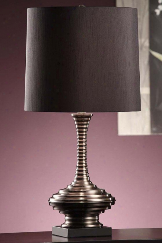"""sanchez Table Lamp In Blacl Nickel And Black Finish - 27.5""""h, Black"""