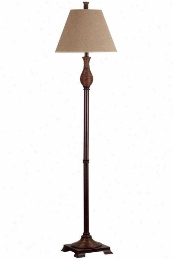 """santiago Floor Lamp - 61""""hx15""""d, Natural Reed"""
