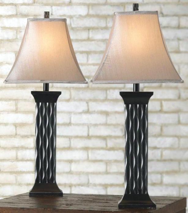 """""""schaeffer Table Lamp - Set Of 2 - 29""""""""h, Black"""""""