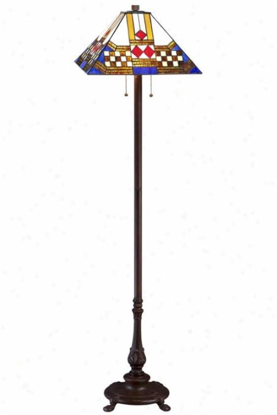 Sedona Tiffany-style Flkor Lamp - Floor Lamp, Brown
