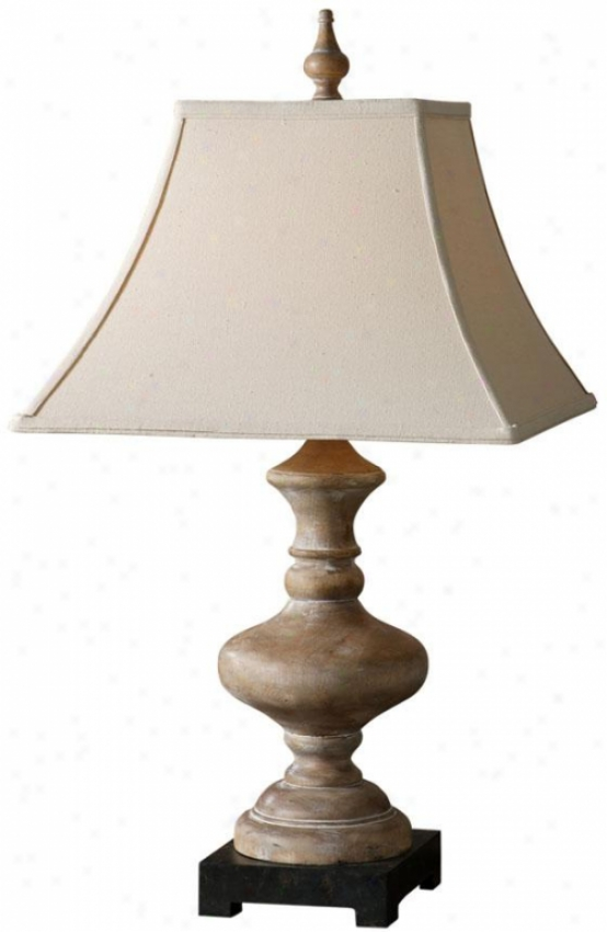 """serdiana Table Lamp - 30""""hx16""""diamtr, Roasted Pecan"""
