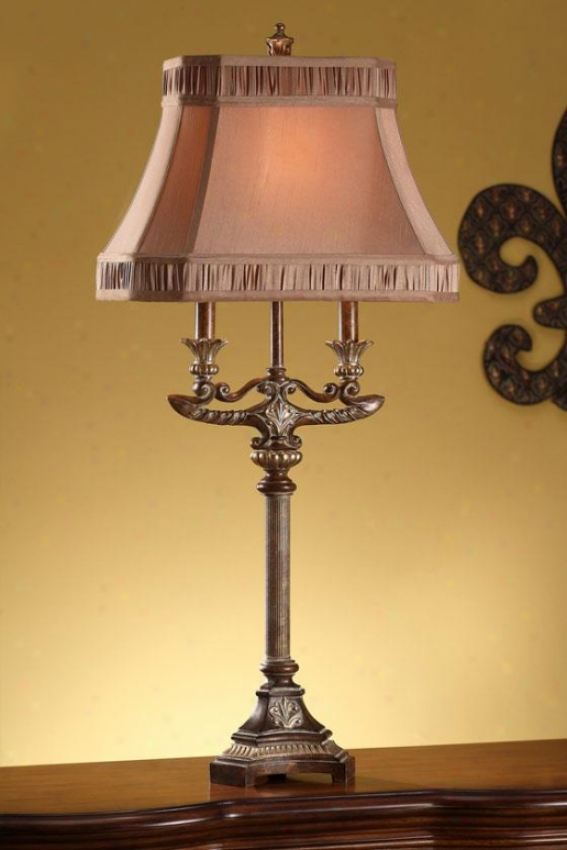 """shannon Table Lamp - 36.25""""h, Vienna Gold"""