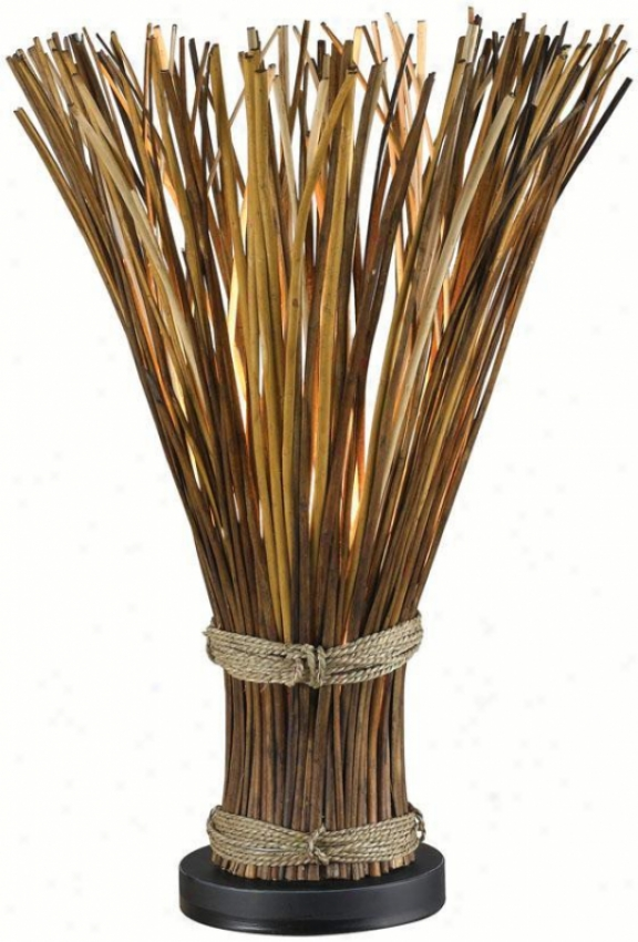 """""""sheaf Table Lamp - 25""""""""h, Natura Reed"""""""