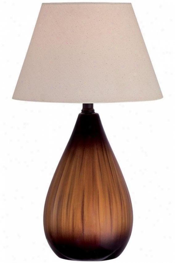 """sheila Table Lamp - 20""""hx12""""d, Brown"""