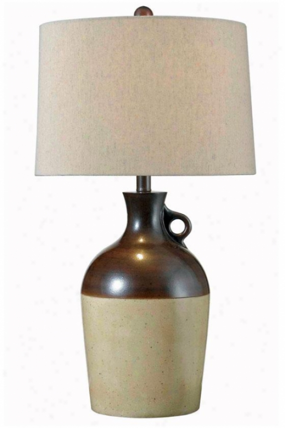 """shine Table Lamp - 28""""h X 15""""w, Brown"""