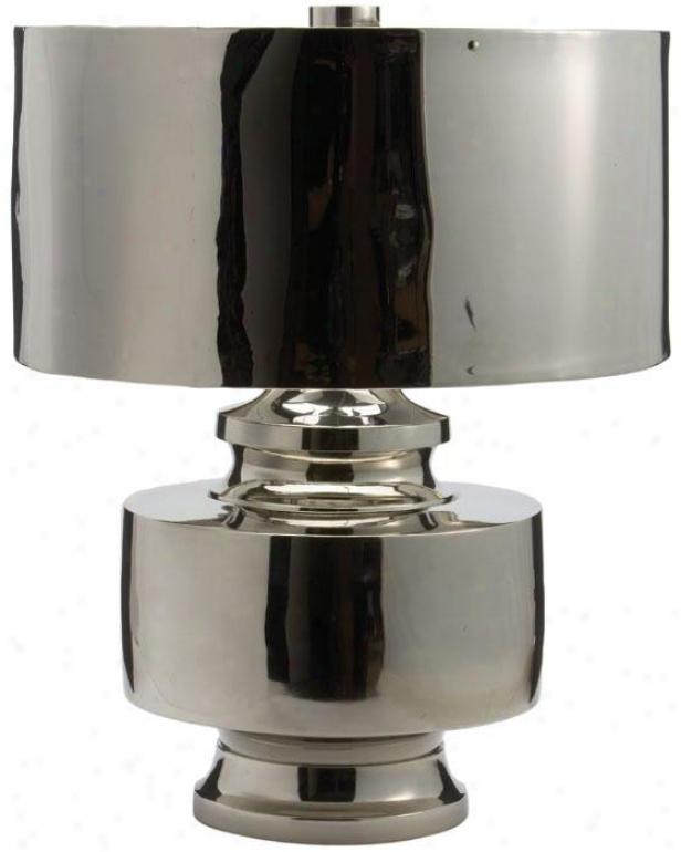 Silver Rocket Lamp - 22hx18d, Silver