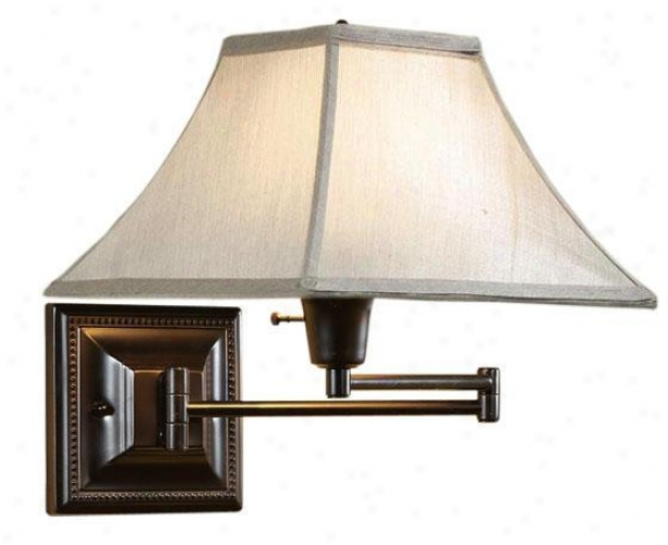 Silver/taupe Kingston Swing-arm Pin-up Lamp - Silver/taupee, Small change Bronze