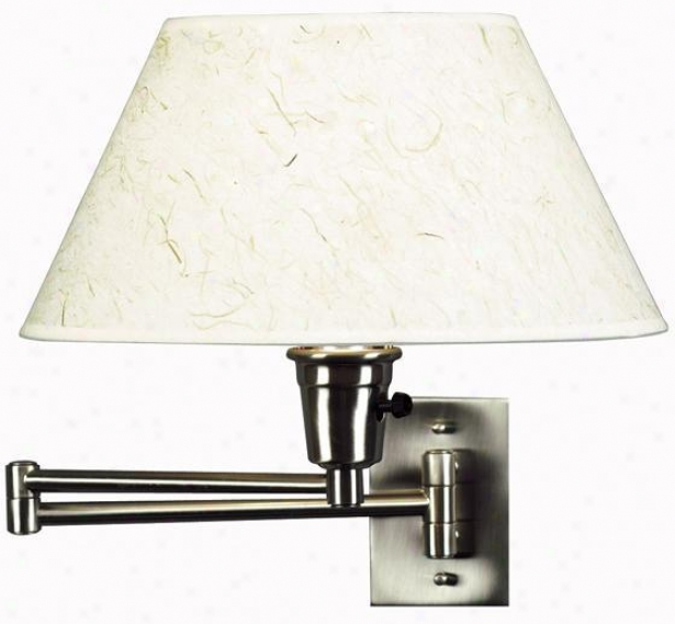 """simplicity Swing-arm Wall Lamp - 13""""h, Grey Steel"""
