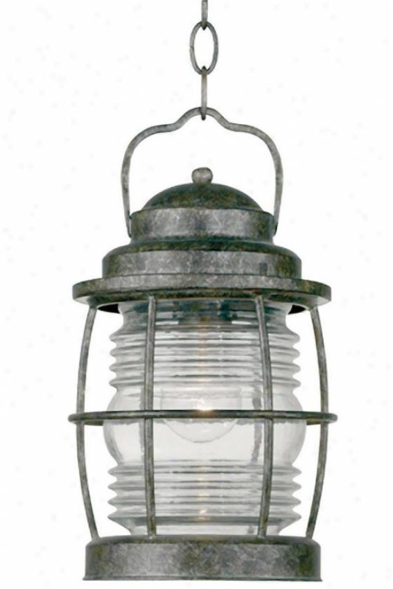 """""""siren Outdoor Hanging Lantern - 13""""""""h, Orange"""""""