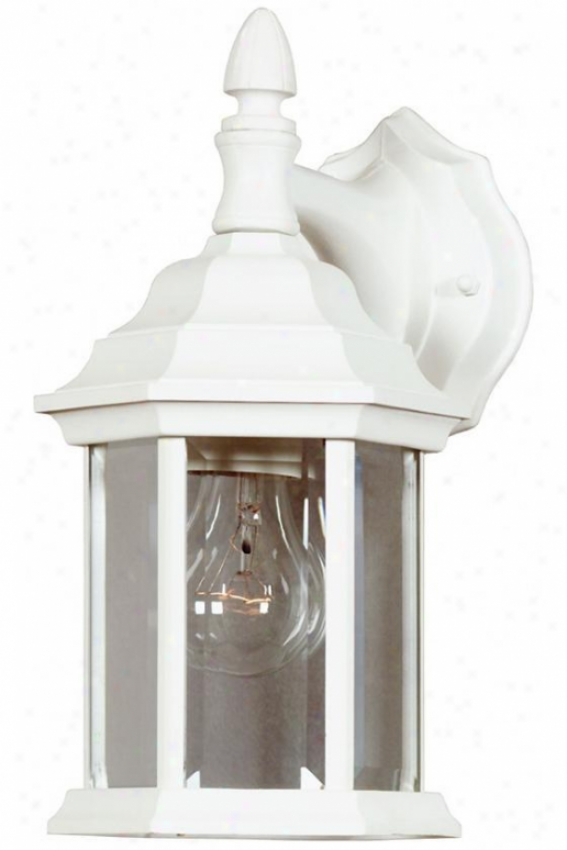 Small Custom Fit Outdoor Wall Lantern - 1light, White