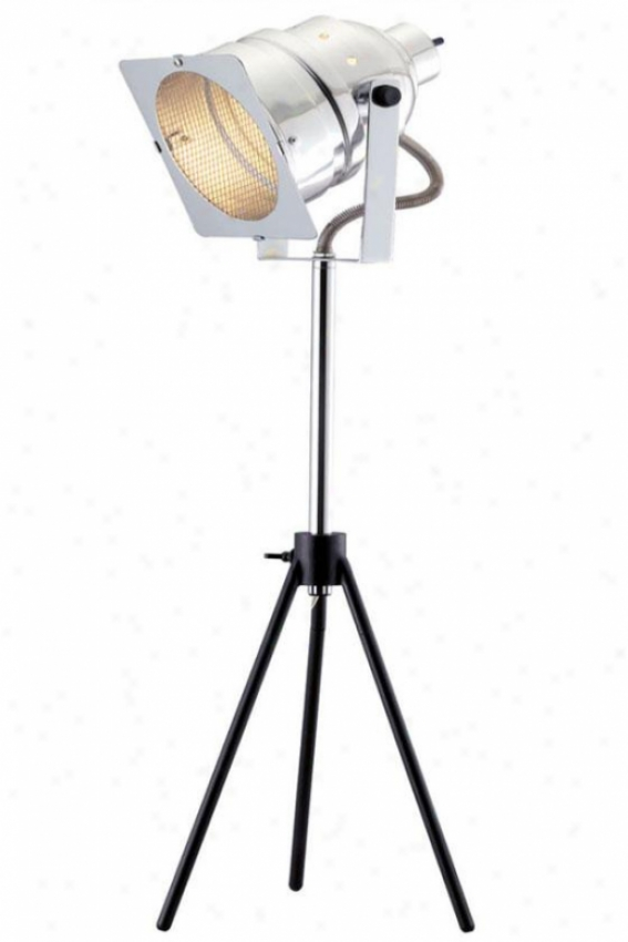 """spotlight Table Lamp - 20""""h-29""""wx8""""w, Soft and clear  Chrome"""