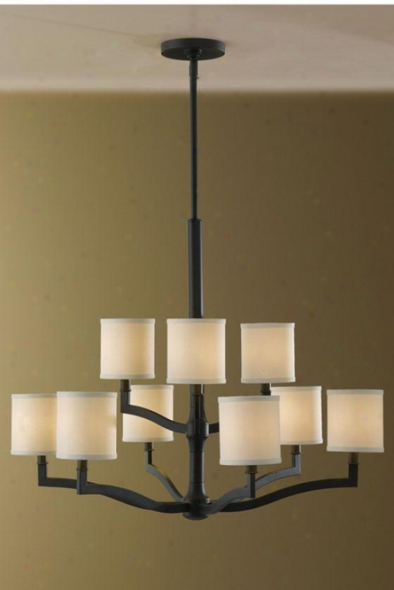 Stelle Chandelier - Nine Light, Oil Rub Bronze