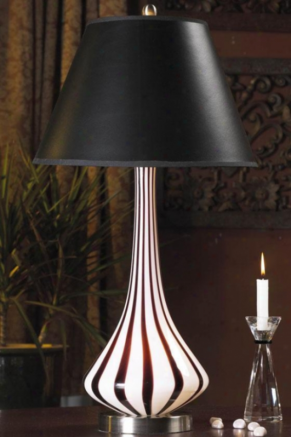 """stripes Index Lamp - 13""""x26"""", Black"""
